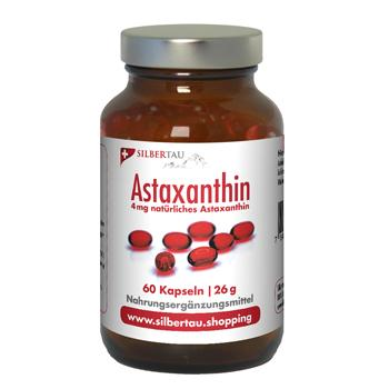 Astaxanthin 4mg - 60 Kapseln, Alge Haematococcus pluvialis